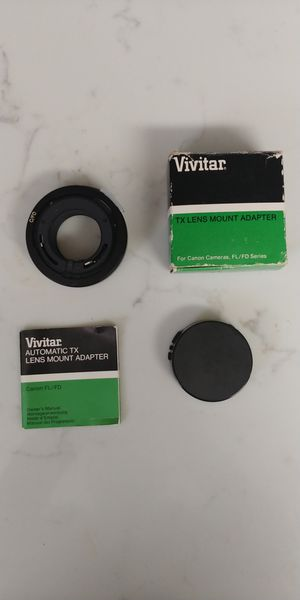 Vivitar TX Lens Mount Adapter for Canon FL/FD Mount for Sale in San Antonio, TX