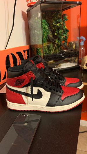 Jordan 1 bred toe for Sale in Fort Lauderdale, FL