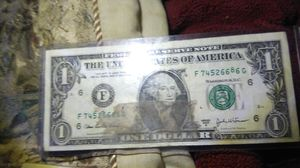 Misprint high 8 one dollar bill and one Disney dollar for Sale in West Covina, CA