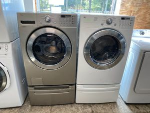 LG Front Load Washer and Electric Dryer Set on Peds! Can Deliver! Have Others! Open 7 Days! $50 Down 90 Day Pay Plan Available! Military Discount! for Sale in Norfolk, VA