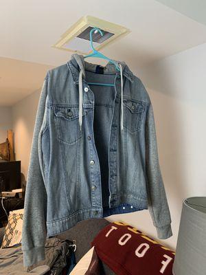 H&M denim hooded jacket size medium for Sale in Germantown, MD