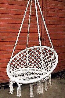 "New in box 32"" wide x 47"" inches tall Hammock Chair Macrame Swing Boho Style Cotton Rope Chair Indoor Outdoor 260 lbs Capacity Without Pillow for Sale in Los Angeles,  CA"