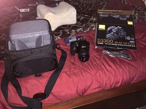 Nikon D3300 Digital Camera Kit. Mint Condition as it was only used twice. for Sale in Dallas, TX