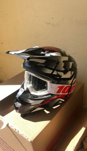 Dirt bike helmet and googles for Sale in Aurora, CO