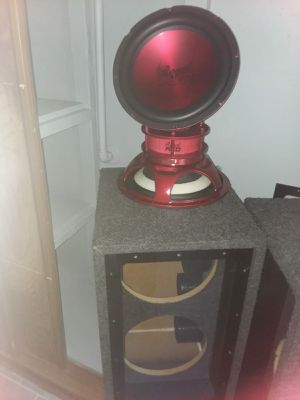 subwoofer metallic red for Sale in Bowie, MD