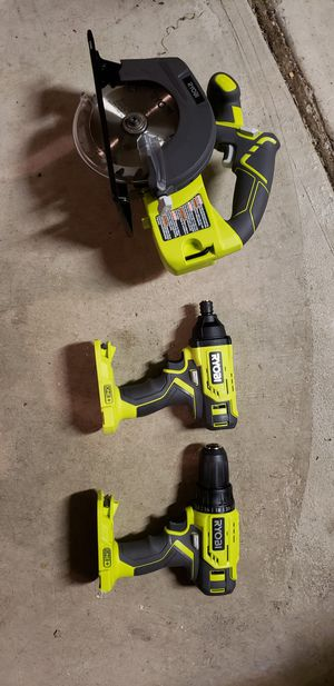 Ryobi saw, impact, and drill for Sale in Puyallup, WA