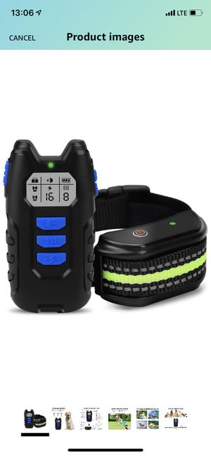 Dog Training Collar Rechargeable Dog Shock Collar Set With Remote, Waterproof Shock Collar for Dogs w/3 Training Modes, Beep Vibration and Shock Adju for Sale in Queens, NY