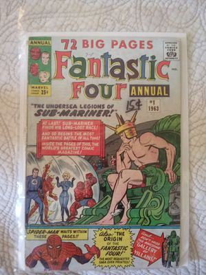 Fantastic four annual number one big key issue for Sale in Monterey Park, CA
