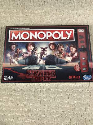 Monopoly Stranger Things Edition Board Game for Sale in French Creek, WV