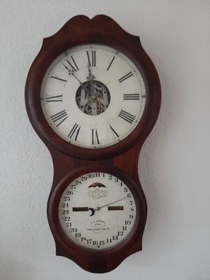 Antique Ithica Clock Company Wall Calendar Clock for Sale in Tacoma, WA