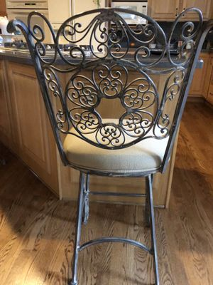 Kitchen/Island/Chairs - Wrought Iron - Swivel right or left for Sale in Gainesville, VA