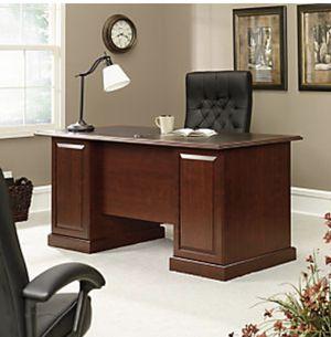 Sauder Heritage Hill Double-Pedestal Desk, Classic Cherry for Sale in Homestead, FL