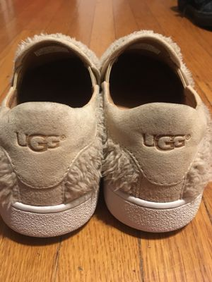 Furry beige UGG slip on sneakers (women's size 8) like new condition/never worn for Sale in Portland, OR