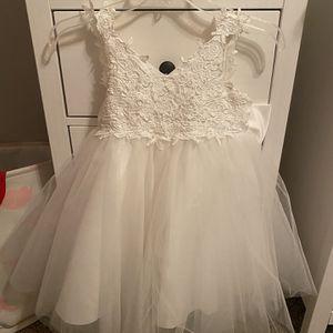 White Toddler Flower Girl Dress for Sale in Gilbert, AZ