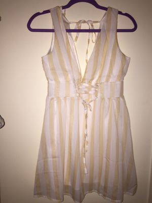 gold and white striped dress for Sale in Baltimore, MD