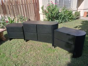 Vintage Lacquer seagrass dresser nightstands for Sale in Indio, CA