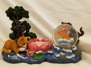 NEW - Vintage Votive Candle Cats Playin' with Fish Bowl for Sale in San Fernando, CA