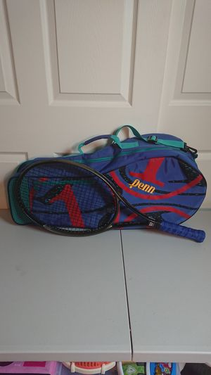 Wilson hammer system tennis racket and retro bag for Sale in Peoria, AZ