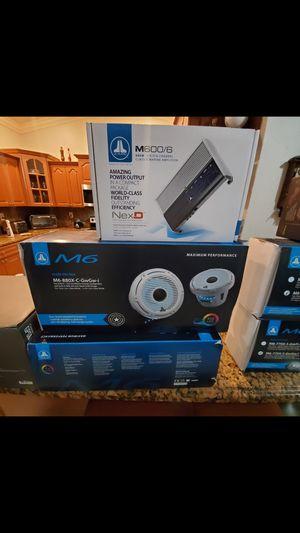 Jl audio m6 8.8 rgb & m600/6 amp for Sale in Hollywood, FL