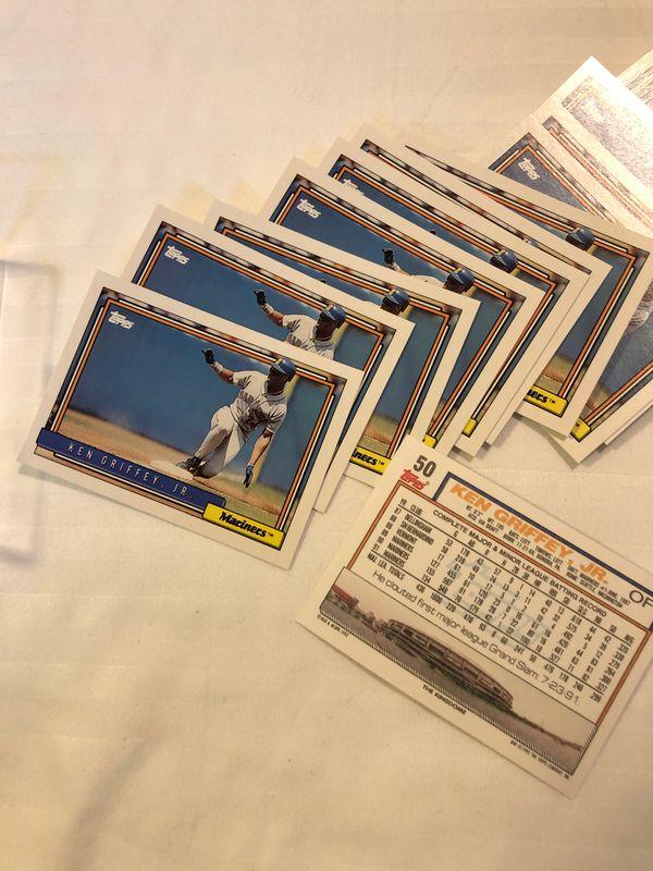 Topps Baseball 1992 Ken Griffey Jr card #50. Set of 36 cards mint
