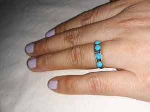 Turquoise Silver Ring, Size 6. for Sale in Dallas, TX