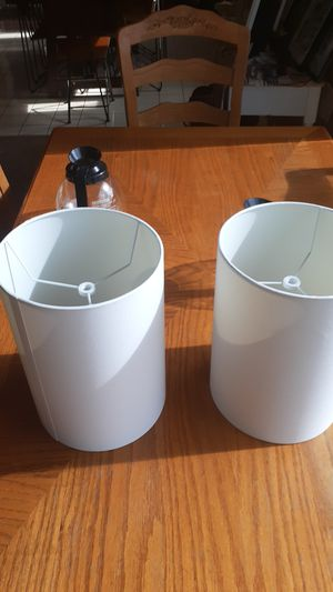 Lamp shades White, 10 each, Diameter 8 in, Height 11 in. for Sale in Torrance, CA