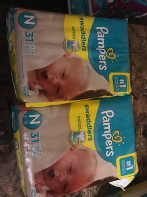 Pampers newborn $6 each for Sale in Chelsea, MA