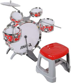 Kid's Jazz Musical Instrument Drum Play Set with 5 Drums and 1 Chair for Sale in Jacksonville, FL