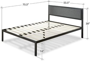 Full Size metal Bedframe with Headboard for Sale in Hamilton Township, NJ