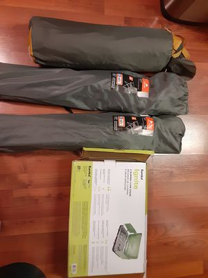 2 OZARK FOLDING CHAIRS 1 NORTH FACE TENT 1EUREKA IGNITE 2 BURNER CAMP STOVE NEW BUNDLE DEAL for Sale in Los Angeles, CA