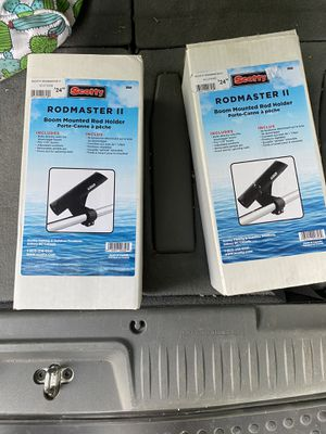 Scotty rodmaster 2 downrigger mounted rod holders 358 pair for Sale in Seattle, WA