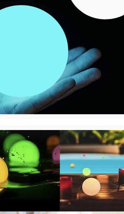 Floating Pool Lights 2 Packs with Timer, RGB Color Changing LED Ball Lights IP67 Waterproof, Replaceable Button Cell Hot Tub Bath Toys Night Lights Po for Sale in Annandale,  VA