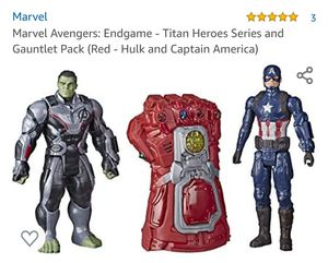 Marvel Avengers: Endgame - Titan Heroes Series and Gauntlet Pack (Red - Hulk and Captain America) for Sale in Victorville, CA