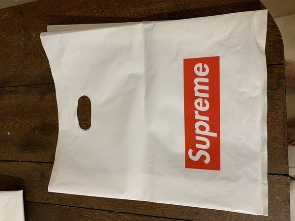Original Supreme Stickers and Plastic Tote Bags (NOT FREE!)