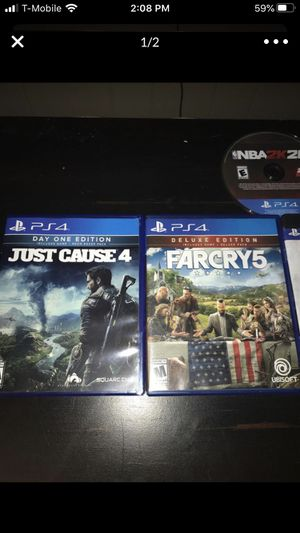 Just cause 4,farcry 5,nba 2k19,nba 2k20,kingdom of hearts for Sale in Plano, TX