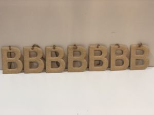 7 small burlap letter B's for Sale in Valley Stream, NY