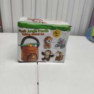 Plush Jungle Friends Talking Animal 5pc. Set for Sale in Portsmouth, VA