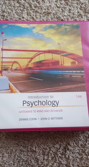 Introduction to psychology loose-leaf textbook for Sale in Yuma, AZ