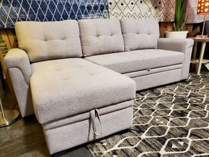 Sectional Sofa Pull Out Sleeper, Light Grey for Sale in Garden Grove, CA