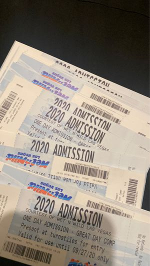 Tickets wet and wild for Sale in Las Vegas, NV