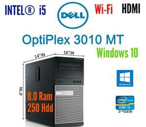 PC.DeLL > 3010 Desktop Computer Tower PC, Intel Core i5 3.2GHz, 8.0GB Ram, 250 GB HDD, HDMI, WiFi, DVD-Rom. Windows 10 Pro. ✔ for Sale in Surprise, AZ