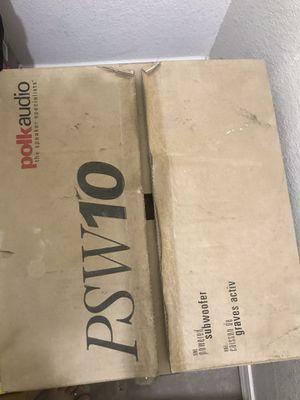 Polk audio PSW10 powered woofer rarely used for Sale in Phoenix, AZ