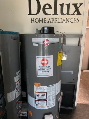 Rheem water heater 40 and 50 gallon available 40 gallon starting at $599 50 gallon starting at $699 for Sale in Fullerton, CA