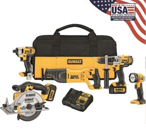 Dewalt 20-Volt Max 5-Tool Power Tool Combo Kit With Soft Case for Sale in Hialeah, FL