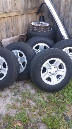 Jeep wrangler(wheels and tires) for Sale in Tampa, FL