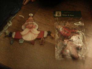 Gingerbread and santa for Sale in Bangor, ME