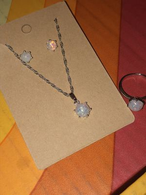 Sterling Silver (s925) and Created Opal Jewelry Set for Sale in Woodbridge, VA