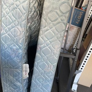 Free Queen Size Mattress, Box Spring, And Metal Frame for Sale in Virginia Beach, VA