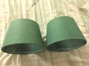 Pair of Lamp Shades - Green for Sale in Arlington, VA
