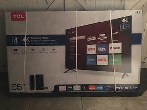 """TCL 65"""" 4K ROKU SMART TV for Sale in Pomona, CA"""